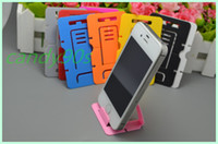 Wholesale Plastic Portable foldable Card phone mounts Cell Phone Tablet Stand Holder for phone table pc