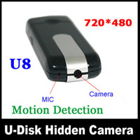 Wholesale U8 HD Mini USB Disk Camera Hidden DVR Camera Motion Detection Support Up to GB