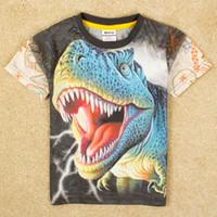 Wholesale New Boys T shirt Animal T shirt Printed Dinosaur Novelty Children Clothing Short Sleeve Frozen Summer T shirt For Boys Nova C5040