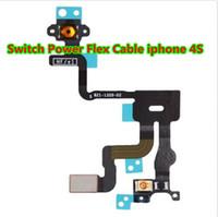 al por mayor iphone 4s botones de volumen-NUEVO Para el iPhone 4S 4 4G Sensor de la luz de la proximidad Interruptor Botón de la energía Cable de la flexión ON / OFF Cortocircuito Mute Interruptor Botones del volumen Reemplazo I4