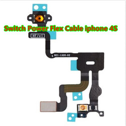 Wholesale NEW For iPhone S G Proximity Light Sensor Switch Power Button Flex Cable ON OFF Ribbon Mute Switch Volume Buttons Replacement I4