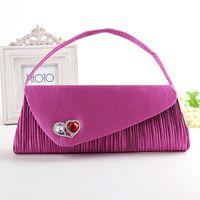 Wholesale New Arrival Fashion Beautiful Evening Bags Hot Sale Handbag Silk Fabrics