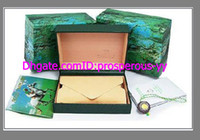 Wholesale Luxury WATCH box Green Watch box with and paper watch boxes