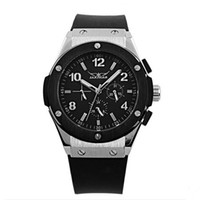 Sport Men's Auto Date High quality JARAGAR Watch,New Sport Rubber Mens Automatic wristwatch Black watch JR09