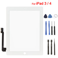 Wholesale White Touch Screen Glass Digitizer Replacement with Tools for iPad Repair
