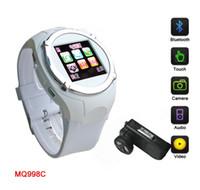 Wholesale GSM MQ998 Watch Quad band Bluetooth Inch Touchscreen MP Camera Single Sim Card Watch Cellphone Recording Hand writing
