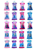 20 Styles For Chose Frozen Dress Girls Summer Dress Short Sl...