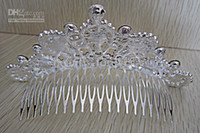 Cheap Wedding Bridal Accessories Crystal Veil Tiara Crown Headband Bridal Diamond Hair Comb