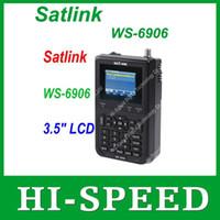 """Originais Satlink WS-6906 3.5 """"DVB-S FTA digital de satélite ws localizador de metros satélite frete grátis 6906 SatLink ws6906"""
