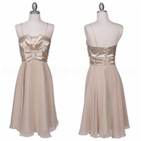 Reference Images Ruched Sleeveless Simple Short Chiffon Bridesmaid Dresses Waistbelt With A Bow Crystas Embellishments Stain Ruched On Top Bodice Sash Prom Dresses Under 50