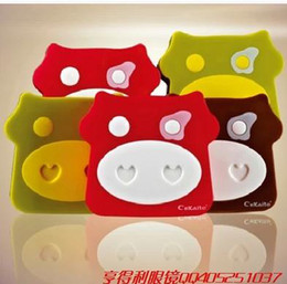 Wholesale New sweet Cute and adorable cow horn Lenses Box amp Case Contact lens Case Promotional Gift