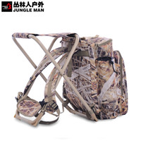 Wholesale Fishing bag Folding Chair Camping Fishing Chair with Backrest Carry Bag Black Folding Chairs camouflage hunting Multi function