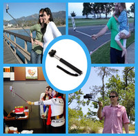 Wholesale Extendable Handheld Self portrait Monopod selfie stick Photograph Bluetooth Shutter Camera Remote Controller for iPhone for Samsung