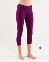 Wholesale 2014 Lululemon Wunder Under Crops High Quality Good Fabric Lulu lemon Crop Capris Ship By EMS If
