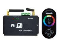 Wholesale SPI LED WiFi Controller Dimmer RF Touch Remote Control WF300 For RGB LED Light Strip DC5V V