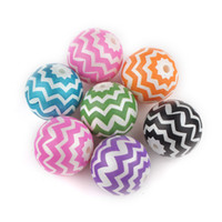 Wholesale 20mm Assorted Acrylic Solid Beads Zig Zag Chevron Beads Striped Gumball Beads DIY Baby Girl Kids Necklace Bracelet