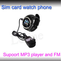 Wholesale 1 Inch Wrist Phone Watch Cell phone MQ998 GSM SIM card Quad Band with Bluetooth MP3 MP4 FM MP Camera factory price