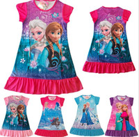 Hot Sale New Frozen Dress Girls Summer Dress Children's Paja...