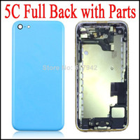 Wholesale Full Battery Door Housing For iPhone C Full Battery Cover Housing Replacement with Flex Parts Assembly Colors