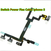 Wholesale For apple iPhone G iphone5 Switch Power Button Flex Cable ON OFF Ribbon Mute Switch Volume Buttons Replacement Repair Parts New