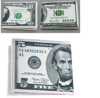 Wholesale 100 Dollar Bill Money Wallet Man Wallet Chic Womens Mens Unisex Currency Notes Dollar Pound Pattern Wallet Purse