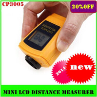 Wholesale New CP Mini Portable Ultrasonic LCD Distance Measurer With Laser Pointer new
