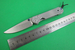 NEW CHRIS REEVE Small SIZE Pocket Knife Folding Knives 5CR15 58HRC Blade Flat Full Steel Handle outdoor gear survival knife L