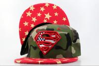 Wholesale DC Comics Snapbacks Camo Snapback Fashion Hip Hip Caps Red Brim Summer Snap Back Hats Little Stars Snap Backs Cap Womens Mens Headwears