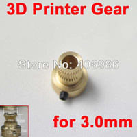 FZ0222 Copper Gear China (Mainland) 5pcs lot 3D Printer Copper Gear Wheel for Reprap Mendel 3.0mm Filament FZ0222