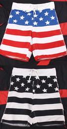 Wholesale Men s USA Flag Beach Swim Shorts Casual Surf Swimming Trunks Boardshorts panty Swimwear Stars Stripe Flag Beachwear Summer Boxer Shorts Swim