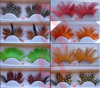 h false eyelashes - Feather false eyelash exaggerated false eyelashes eye feather false eyelashes Long False Eyelashes Eyelash Lashes Voluminous Makeup