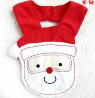 Wholesale 5pcs christmas girl baby bibs waterproof santa babywear towels top quality