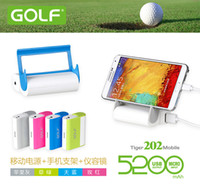 Wholesale Golf mah Portable power bank external battery charger for Samsung S4 s3 Iphone s HTC mobiles all mobiles