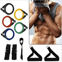 Wholesale 5 SETS NEW RESISTANCE BANDS SET for YOGA ABS GYM WORKOUT
