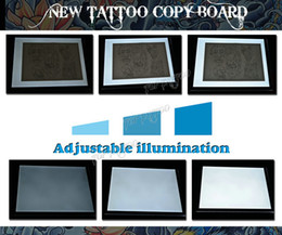Wholesale Professional Tattoo Drawing Board Stencil Tracing Table Pad Board Tattoo Copy Board Double Light For Tattoo Parts