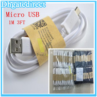 Wholesale Free DHL Original M FT Micro USB Date Charger Line Cable Sync Charging With Paper QR Code Cord For Samsung Galaxy S2 S3 S4