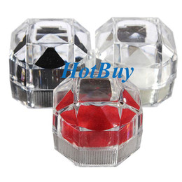 Crystal Ring Earrings Brooch Storage Display Case Jewelry Gift Box #3084