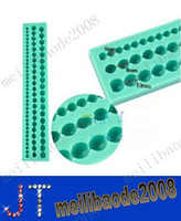 Wholesale New Cake Decorating Mold Three Rows mm Beads Silicone Mould fondant mold tool MYY1716