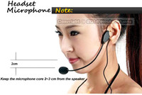 Karaoke headset microphone - 1Pcs Top Quality Condenser Vocal Wired Headset Microphone For Voice Amplifier Speaker Teaching Meeting Tour Guide amp Bright Clear Sound