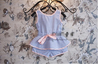 Wholesale girl sets girl summer clothes Pieces suits girl Sleeveless tops shorts suit Kids Clothing nbA