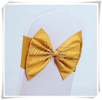 Wholesale gold elastic chair band for wedding decoration spandex sash for cover chair lycra chair band