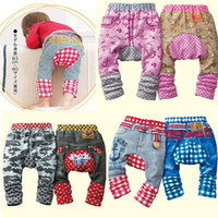 Wholesale Spring Baby PP Pants Grils Leggings Baby Shorts Jeans Baby Ruffle PANTS Boys Panties T Pc