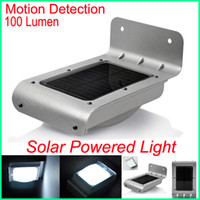 IP65 Garden  PIR Solar Powered Outdoor Security Light Motion Detection Solar Panel LED Energy saving lamp 100 Lumen Garden LED Lamp Motion Sensor lights