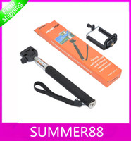 Wholesale in Camera Tripod Extendable Handheld Camera Monopod with cellphone holder for iPhone Samsung HTC Digital Camera