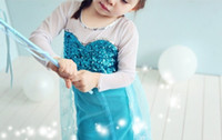 Princess Elsa Short Sleeve Dress Girls Frozen TuTu Party Bir...