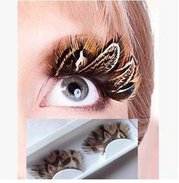 Promotion cils de scène Halloween scène photographie art populaire plumes naturelles exagérée faux cils