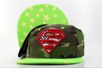 Wholesale DC Comics Snapbacks Camo Snapback Fashion Hip Hip Caps Green Brim Summer Snap Back Hats Little Stars Snap Backs Cap Womens Mens Hat