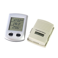 Household Temperature Sensor  Big Discount!10pcs lot Digital LCD Indoor Outdoor Wireless Weather Station Thermometer Time Clock for Home Garden Dropshipping