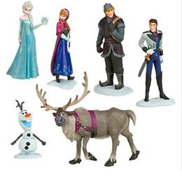 Toys & Gifts Retail Frozen Figure Play Set,Frozen Princess Anna Elsa 6 figure set,movie princess doll toy 6pcs lot