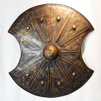 Wholesale Antique Roman Troy shield metal crafts wall decorations European KTV bar in the lobby wall